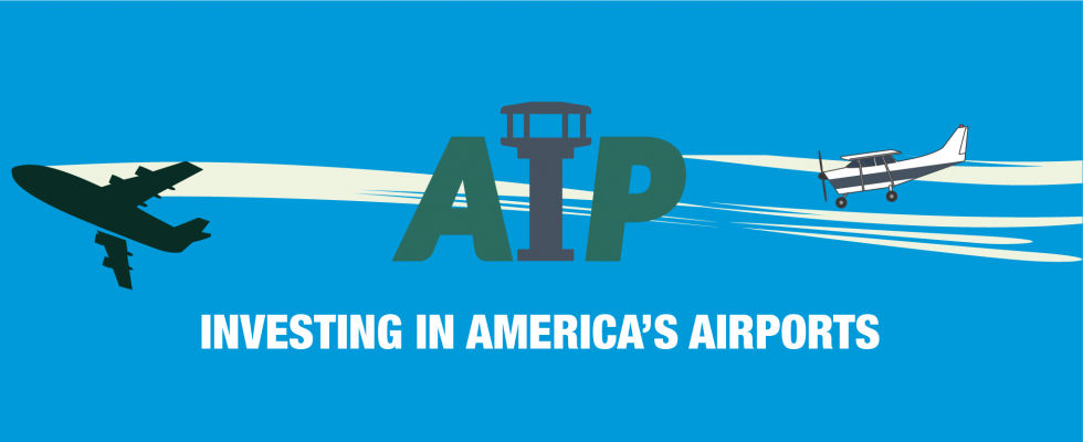 "AIP Web Banner ""Investing in America's Airports"""