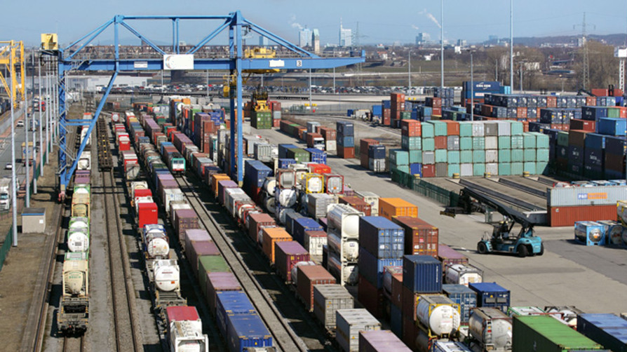 Photo of a multimodal freight site